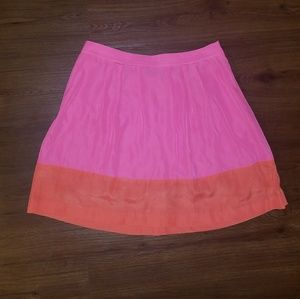J. Crew Orange and Pink Skirt Size 4